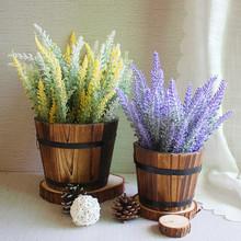 12 Provence PE sztuczne kwiaty z pianki kwiaty lawendy materiały ślubne sztuczne kwiaty ozdobna imitacja kwiaty tanie tanio Party HT69995 Lawenda Kwiat Oddział High quality PE foam About 51 cm 20 inches 12 pcs (A bouquet )