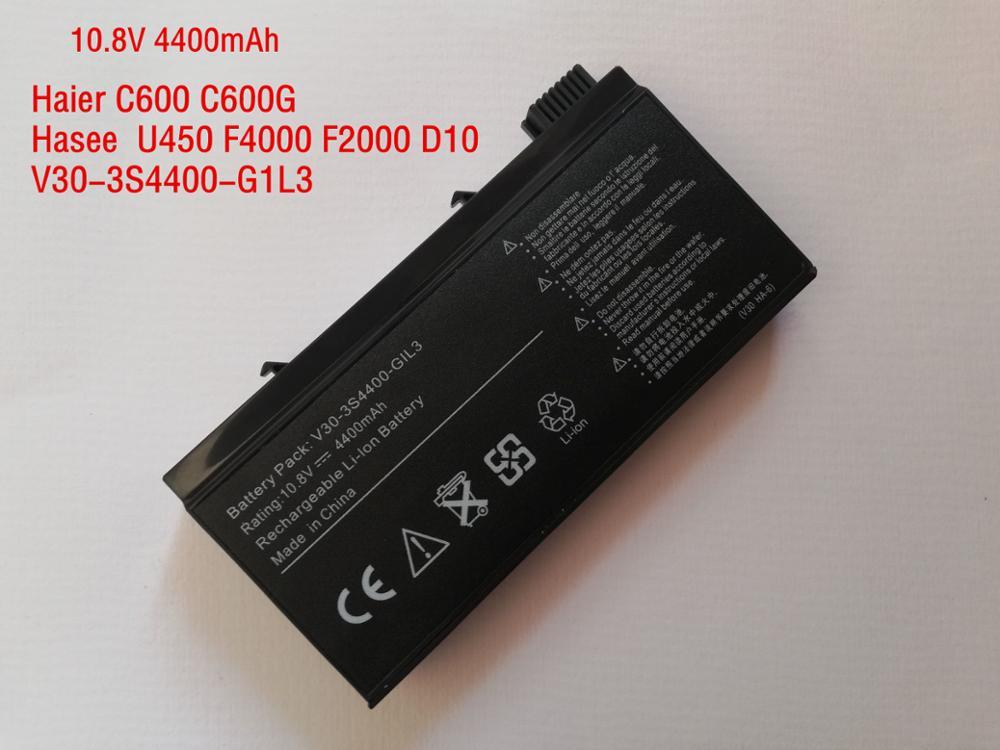 Nouveau V30-3S4400-G1L3 batterie pour Haier C600 pour HASEE f4000 D6 D9 D10 F2000 D3 D5 D8 V30-3S4400-M1A1 V30-3S4400-S1S6