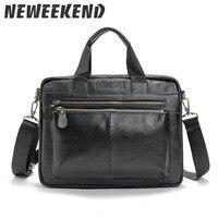 Genuine Leather Bag Business Men Bags Laptop Tote Briefcases Crossbody Bags Shoulder Handbag Men's Messenger Bag 21051