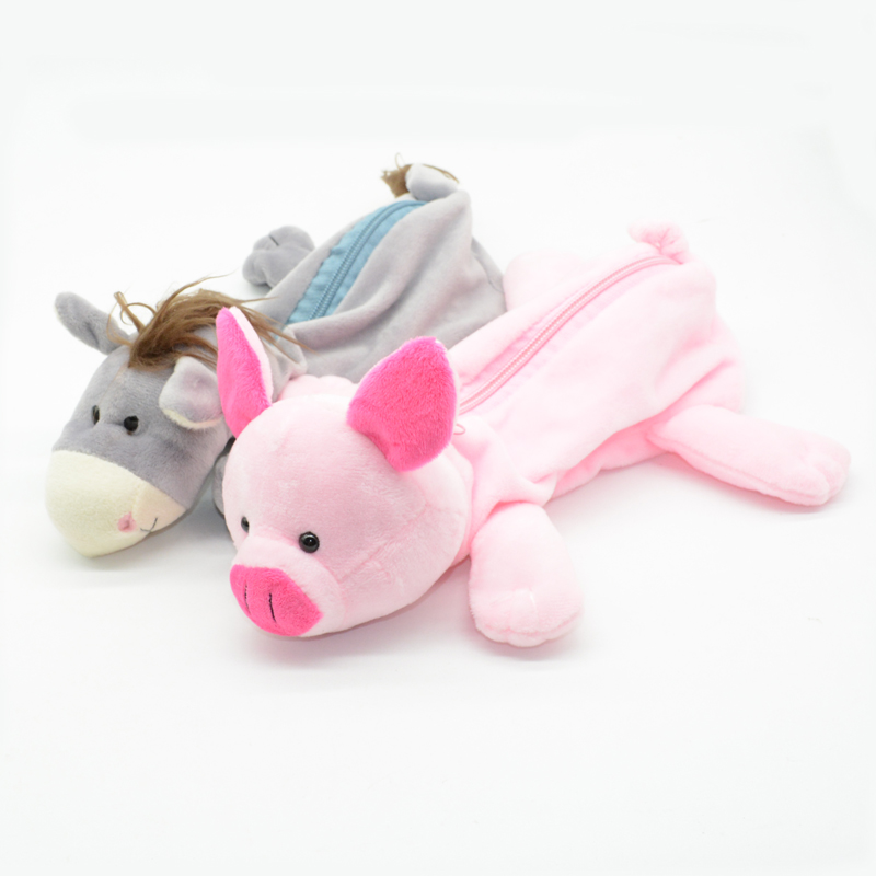 Peluche Pencil Case Estojo Escolar Papelaria Kalem Kutusu Estuche Pig Etui Pencilcase Animal Lapices Bag Cartucheras Box
