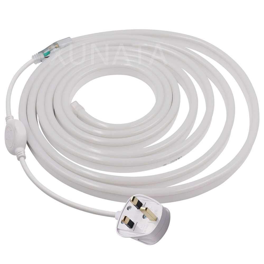 Neonowe światło liny 8x16mm AC220V 2835 120 diod/m Neon światła taśmy elastyczny Neon ledowy taśmy oświetleniowe LED z 24Key IR kontroler RGB