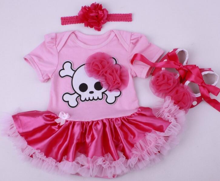 Bosudhsou MC-14 baba lányok gyermek ruházat készlet tök romper ruha jumpersuit + fejpánt + cipő 3db Suit Bebe csecsemő jelmezek