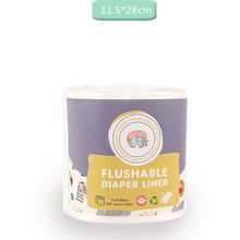 Disposable bamboo flushable baby diaper Biodegradable 1 roll