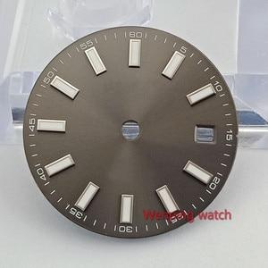 Image 4 - 29mm סדרת חיוג קוטר גודל שעון חלק שעון פנים miyota 8215 821A mingzhu 2813 3804 אוטומטי תנועה P868