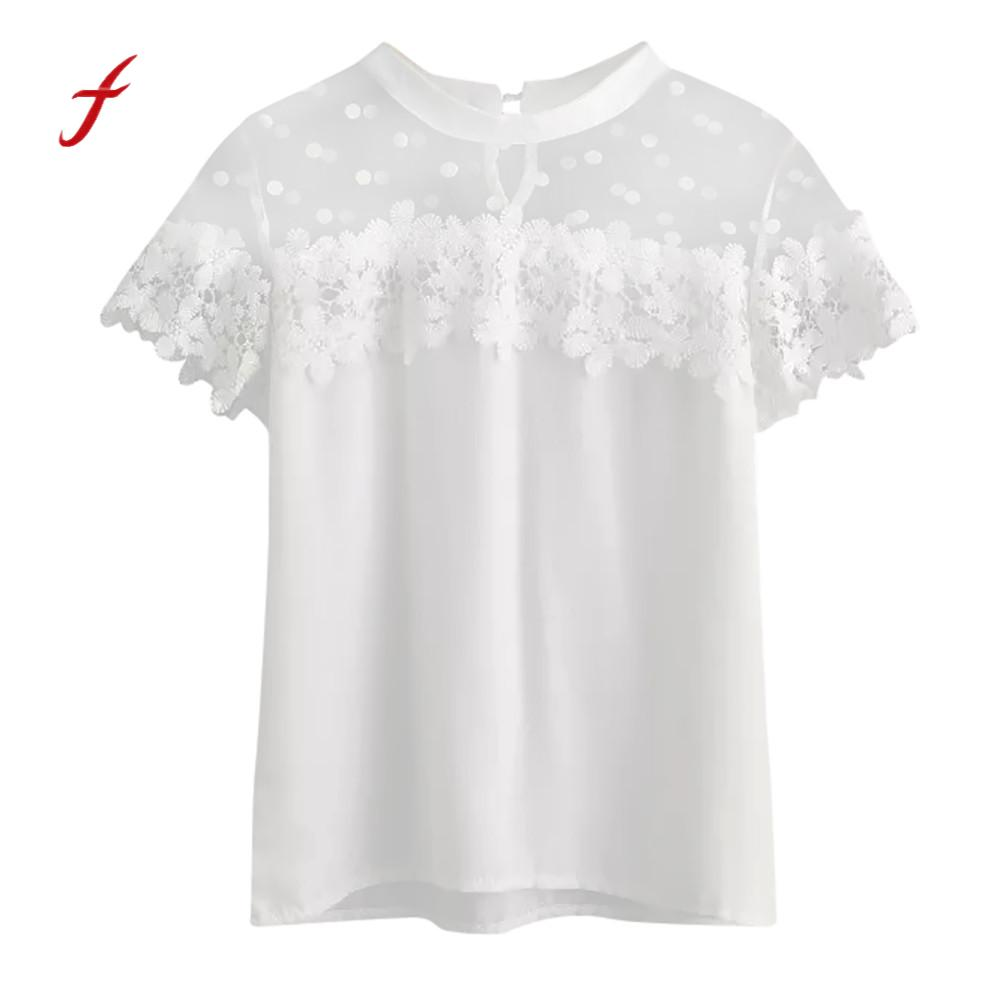 Women's Clothing Provided T-shirt Women 2019 Aliexpress Summer New Sleeveless Chiffon Shirt Solid Color V-neck Mesh Splicing Korean Vestidos Hjy5800