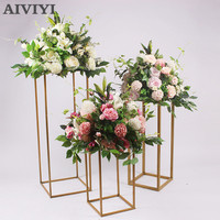 New luxury wedding decoration window display artificial flower ball main table lace party arrangement photo props hotel DIY