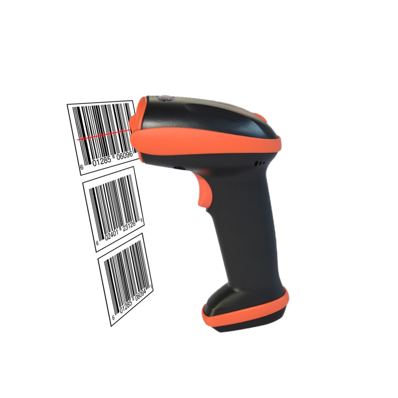 New Wireless Laser Barcode Scanner With USB Receiver Cordless Bar Code Reader For POS Inventory BP-616-MD QJY99 wireless laser barcode scanner 32 bit with memory easy charging cordless bar code reader for pos and inventory rd h2