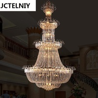 Fashion crystal pendant light stair lamp long pendant light hybrid type stair