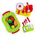 2016 New Plastic Kitchen Food Fruit Vegetable Cutting Toys Kids Pretend Play Educational Toys Cook Cosplay  Toys For Chiledren