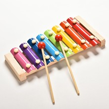 8 Scales Tune Xylophone and Whistle Baby Early Childhood Education Wooden Musical Instrument Toys Trailer Musical Toys New