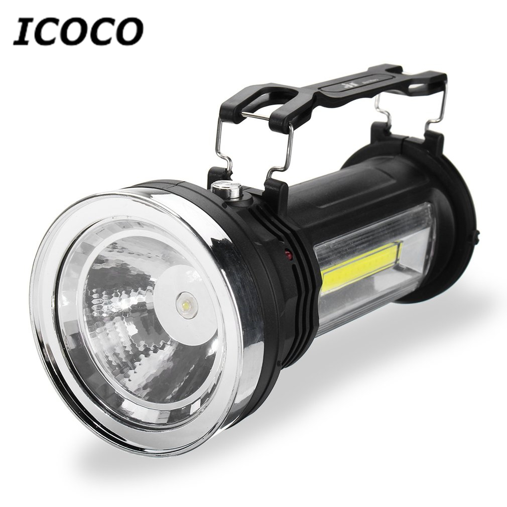 Solar COB LED Camping Light Waterproof Outdoor Emergency Torch for Camping Hiking Hunting 2018 New Arrivals