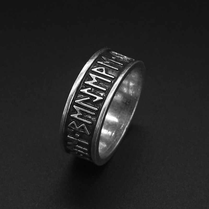 Viking Futhark Rune Cincin Nordic Alphabet Pagan Perhiasan DROP Shipping1pc
