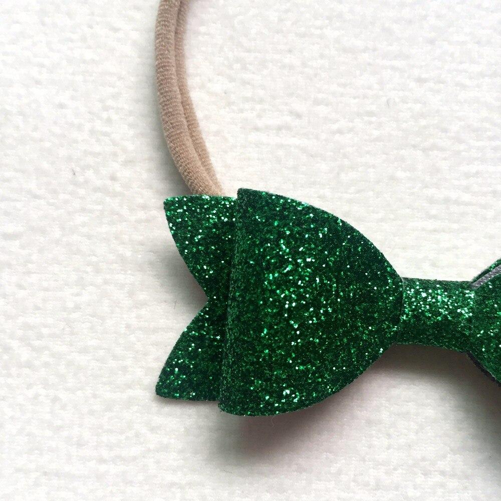 Baby nylon hoofdbanden Kerstcadeaus voor meisjes pailletten Bow - Babykleding - Foto 4