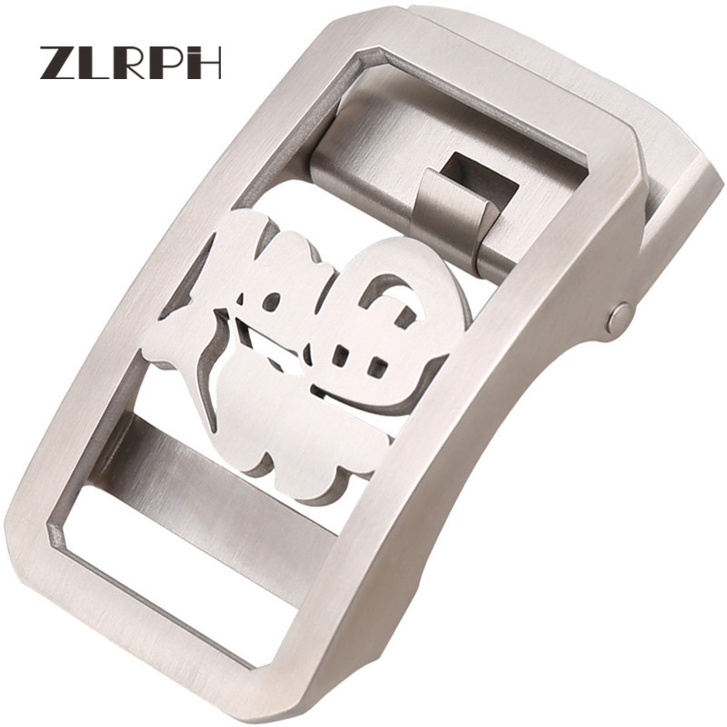 ZLRPH Trendy Design Belt Buckle Head High-grade Polished Electroplating Alloy Automatic Buckle Belt Buckle Stainle Steel