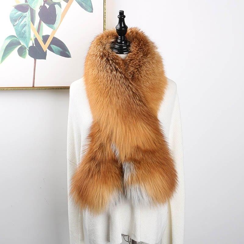 fox skin scarf big fox fur scarf (5)