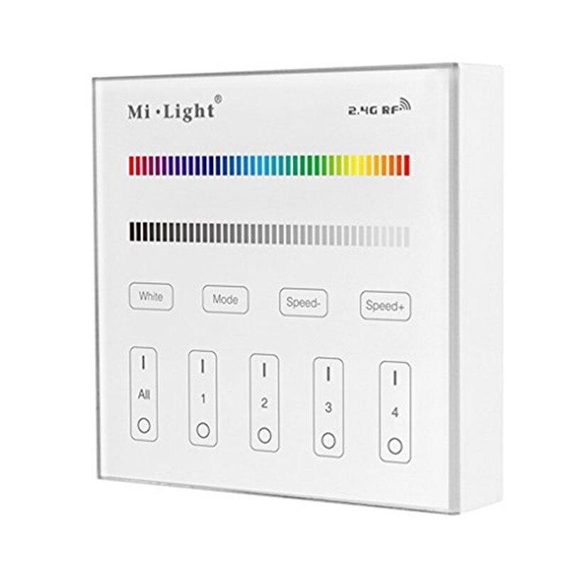 MI-LIGHT T3 para RGB RGBW RGBWW tira conduzida 4 zona Painel de Controle Remoto Sem Fio RF, controle de som controler AUSIDA controlador