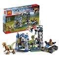 2016 Nuevo Jurassic World series el Raptor de Escape modelo Bloques de Construcción Juguetes Clásicos regalos Compatible Legoed