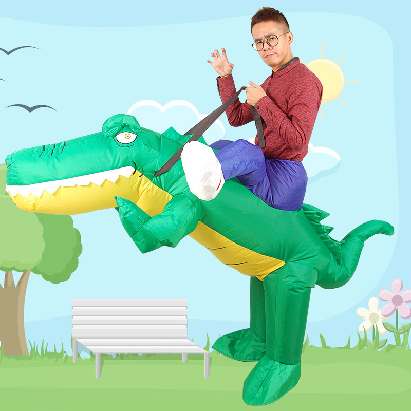 Inflatable Monster Costume crocodile Mascot Cosplay Costume for Adult Riding a crocodiles  mounts Halloween Purim Party