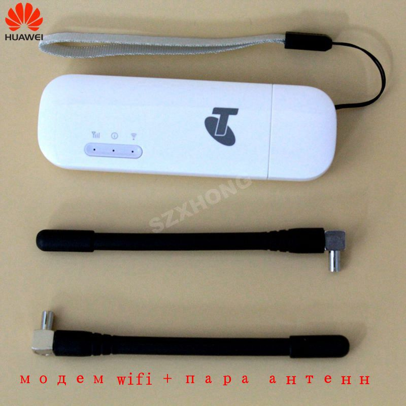 Huawei USB WIFI Modem E8372 E8372h-608 4G LTE USB wifi Dongle 4G USB Modem plus une paire d'antenne gratuite 4G Carfi PK E8377