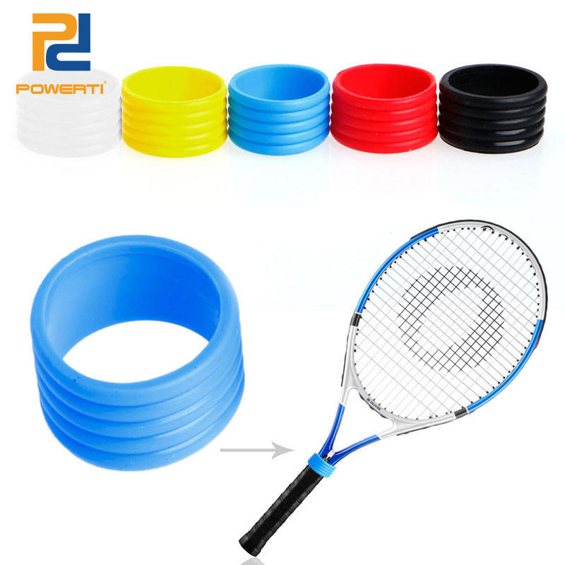 Free Shipping 3 Pcs/pack - POWERTI Tennis Racket Handle's  Stretchy Rubber Ring , Tennis Racket Grip Ring, Overgrip Ring