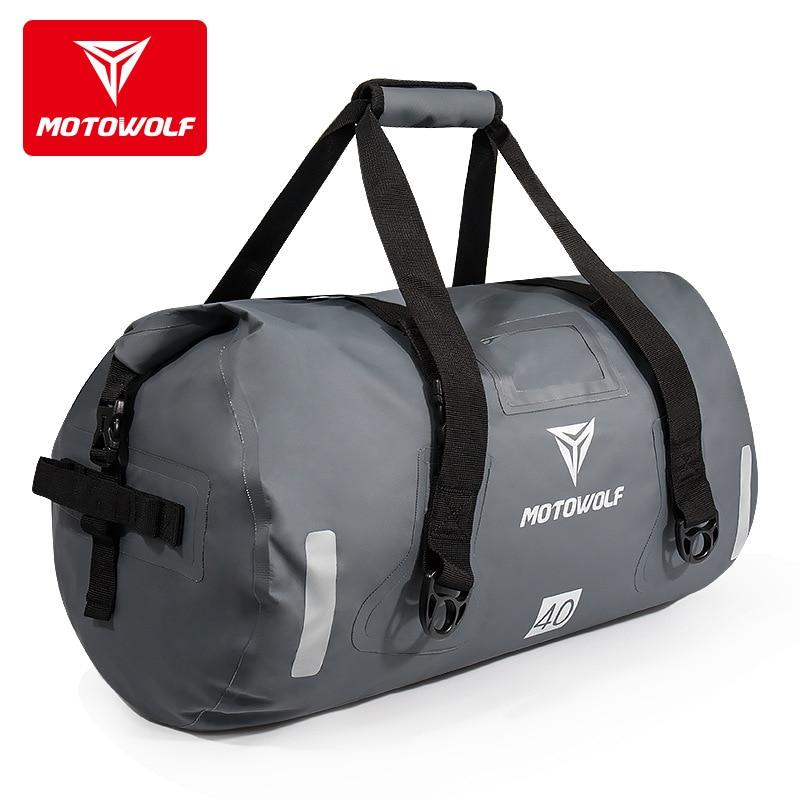 Moto imperméable à l'eau selle queue sacs arrière siège sacs 40/66/90L sac de voyage Motocross bagages arrière siège sac Pack jaune gris