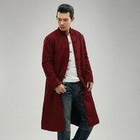 2018 חמה למכירה הקרן החדשה של חורף סתיו הוא מנדרינה מעיל מעיל חורף חצרות גדולות ארוכות פשתן סיני תלבושות Pourpoint סיטונאי