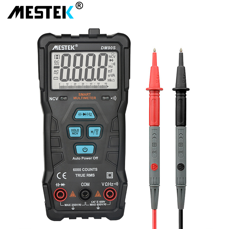 MESTEK DM90S High-speed Full Intelligent Multimeter NCV True RMS Digital Automatic Anti-burning Portable Universal Multimeter
