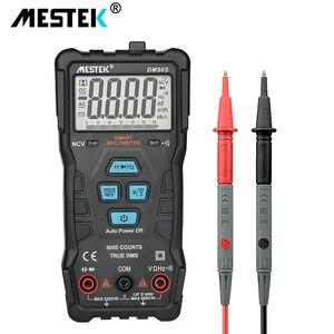 Image 2 - Mestek dm90s multímetro inteligente completo de alta velocidade ncv verdadeiro rms digital automático anti queima portátil universal multímetro