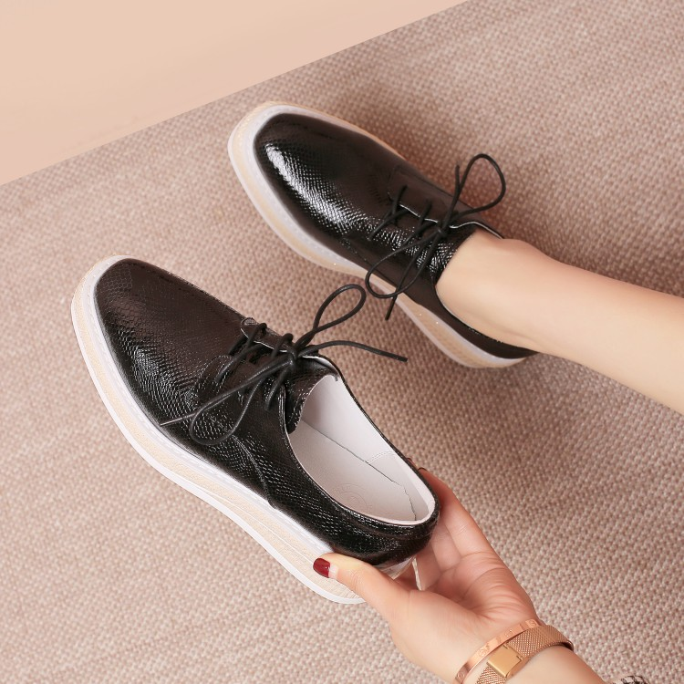 MLJUESE 2018 fashion sneakers snake strip black color autumn spring Dad sneakers Vulcanize Shoes wedges sneakers
