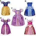 New Girls Princess Party Dresses Kids Girl Snow White Cinderella Sleeping Beauty Sofia Rapunzel Cosplay Costume Clothing 3-10T