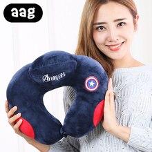 AAG Cartoon Travel Pillow Plush Comfortable U-Shape Neck Car Head Rest Cushion Home Office Accessory