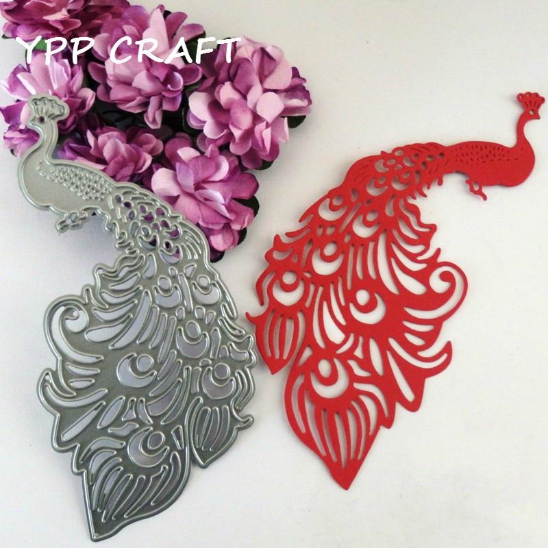 Metal Cutting Dies Jiken Peacock Die Cuts for Scrapbooking DIY Card Paper Embossing Decor