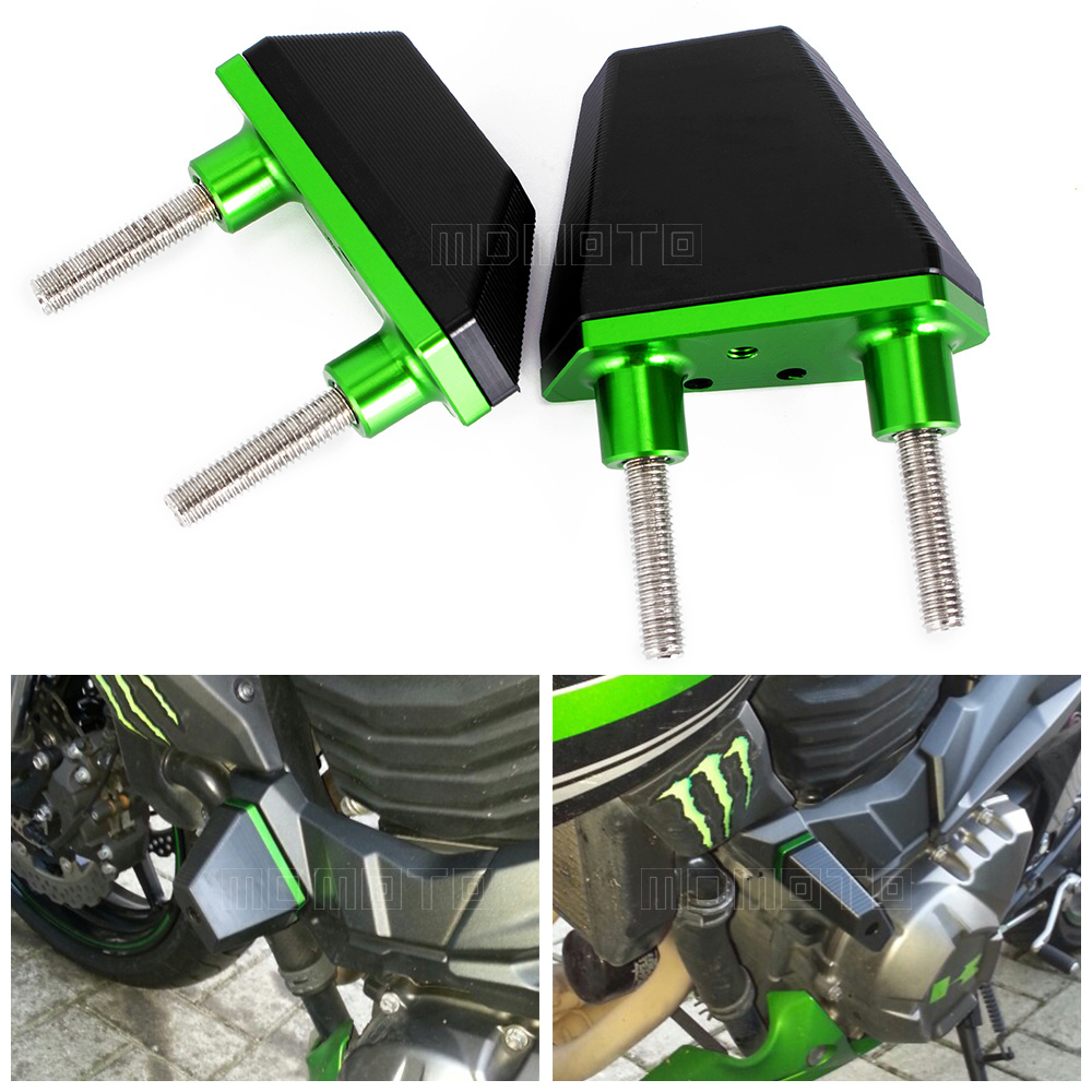 CNC Aluminum Crash Pads Frame Sliders Protector For Kawasaki Z800 2013 2014 2015 2016 Z750 Z1000 Motorcycle Accessories Parts hot sale motorcycle accessories frame sliders crash protector fit for kawasaki z800 2013 2016