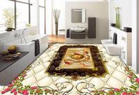 Modern Style 3d Floor Wallpaper Custom Pvc Self Adhesive Wallpaper Marble Soft Bag 3d Flooring Wallpaper