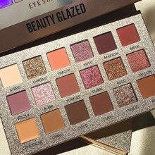 18Color Nude Shining Eyeshadow  Shimmer Glitter Eye Shadow Powder Palette  Cosmetics