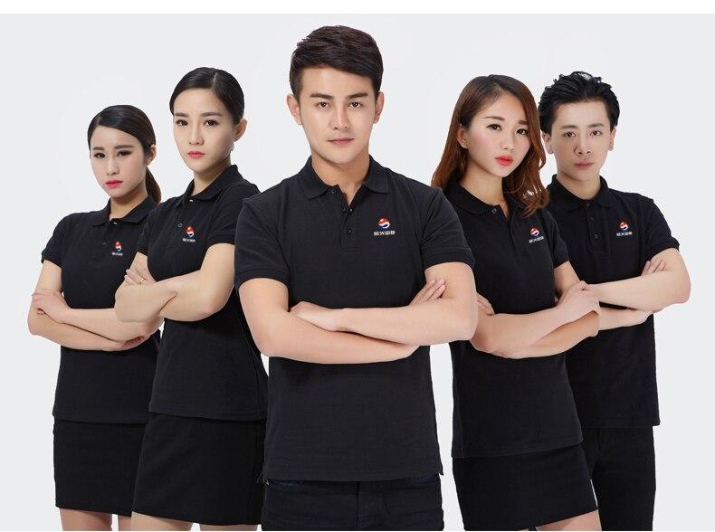Custom Print Company Logo 100 Cotton Advertising Polo T Shirts In