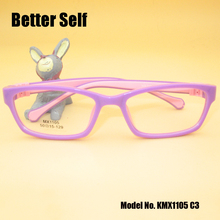 Better Self KMX1105 Flexible Eye Glasses Colorful Spectales Kid Eyeglasses Silicone