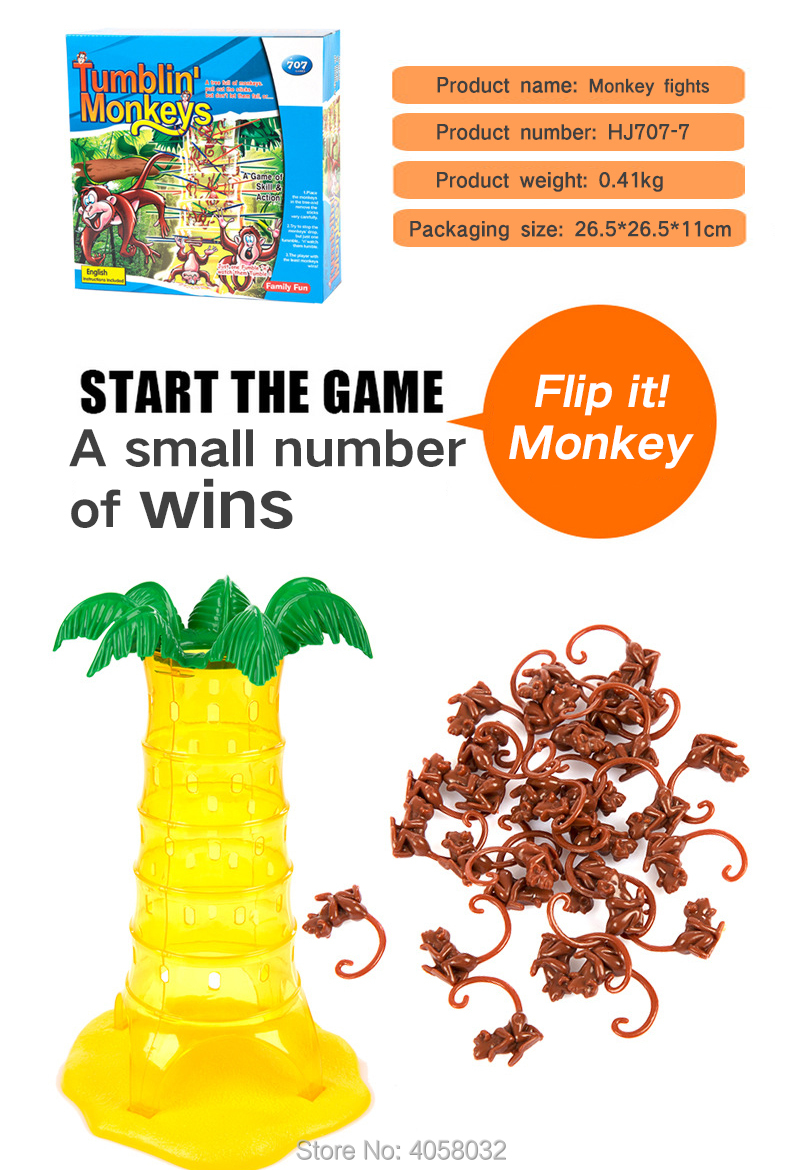 Children's board games tumbler Monkey game table Parenting Interactive  Intelligence Brain Preschool Toys Party Games