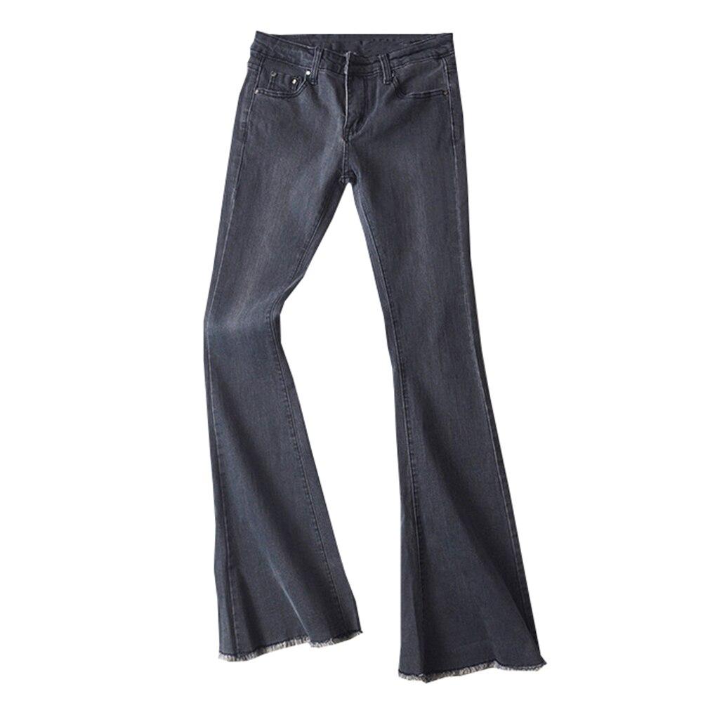 Autumn High Waist Flare Jeans Pants Plus Size Stretch Skinny Jeans Women Wide Leg Slim Hip Denim Boot Cuts