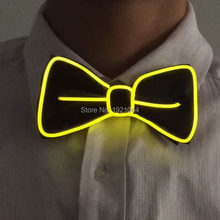 dd62ae828acb YEAHUI Brand Design Flashing Bow Tie EL Product EL Wire Bow Tie with Steady  on Inverter