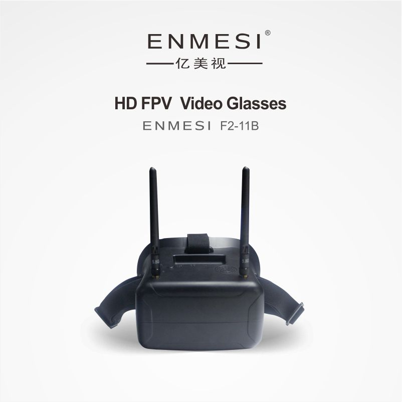 ENMESI F2-11B FPV5.8G Video glasses Hd AV Input 40 channels Receiving camera drone  videos free shipping