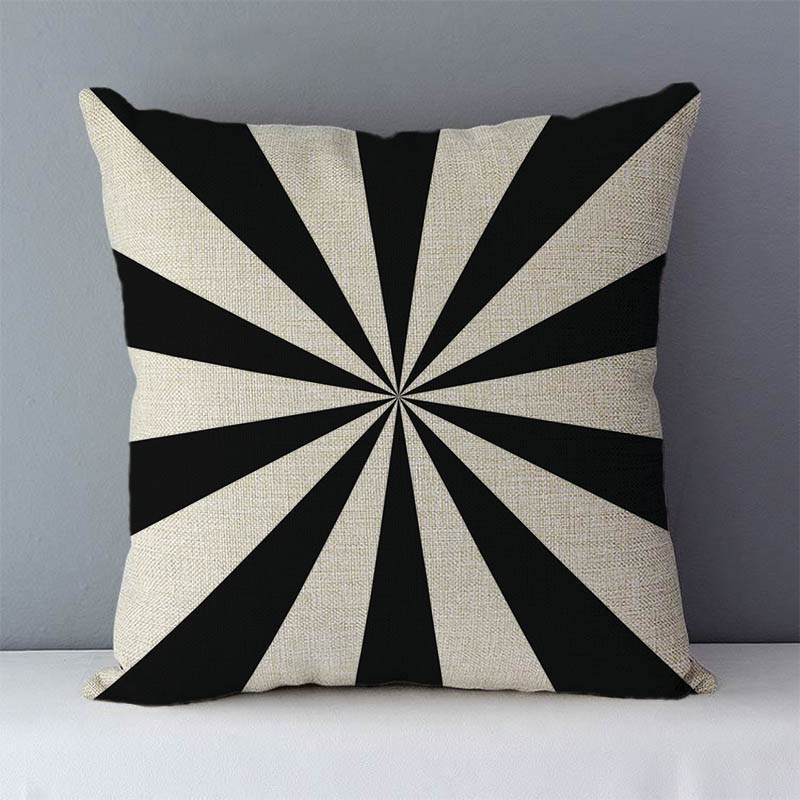 HTB1MhajXcnrK1RjSspkq6yuvXXaB Quality Cozy Popular geometric couch cushion home decorative pillows cotton linen 45x45cm seat back cushions bedding pillowcase