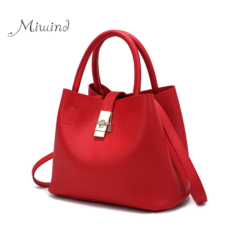 Women Bag Handbag Tote Over Shoulder Crossbody Messenger Leather Female Red Bucket Lock Big Casual Ladies Luxury Designer Bags high quality women messenger bags ladies tote shoulder bag woman brand leather handbag crossbody bag with lock designer bolsas