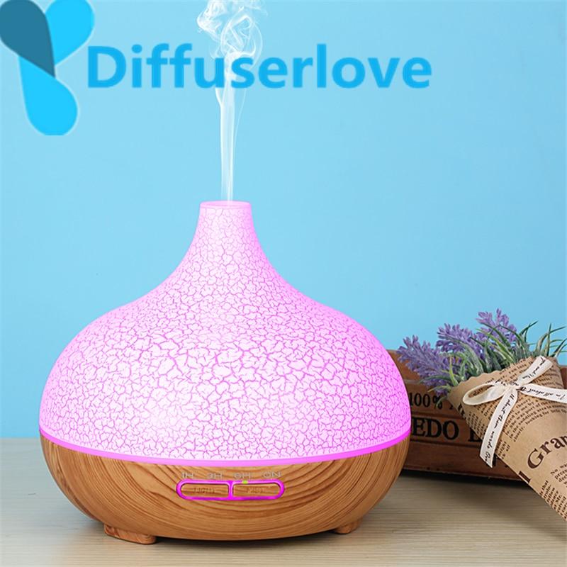 Diffuserlove 300 ml Umidificador de Ar ultra para Home Essential Oil Difusor Humidificador Da Névoa Criador 7 Cor LED Aroma Difusor