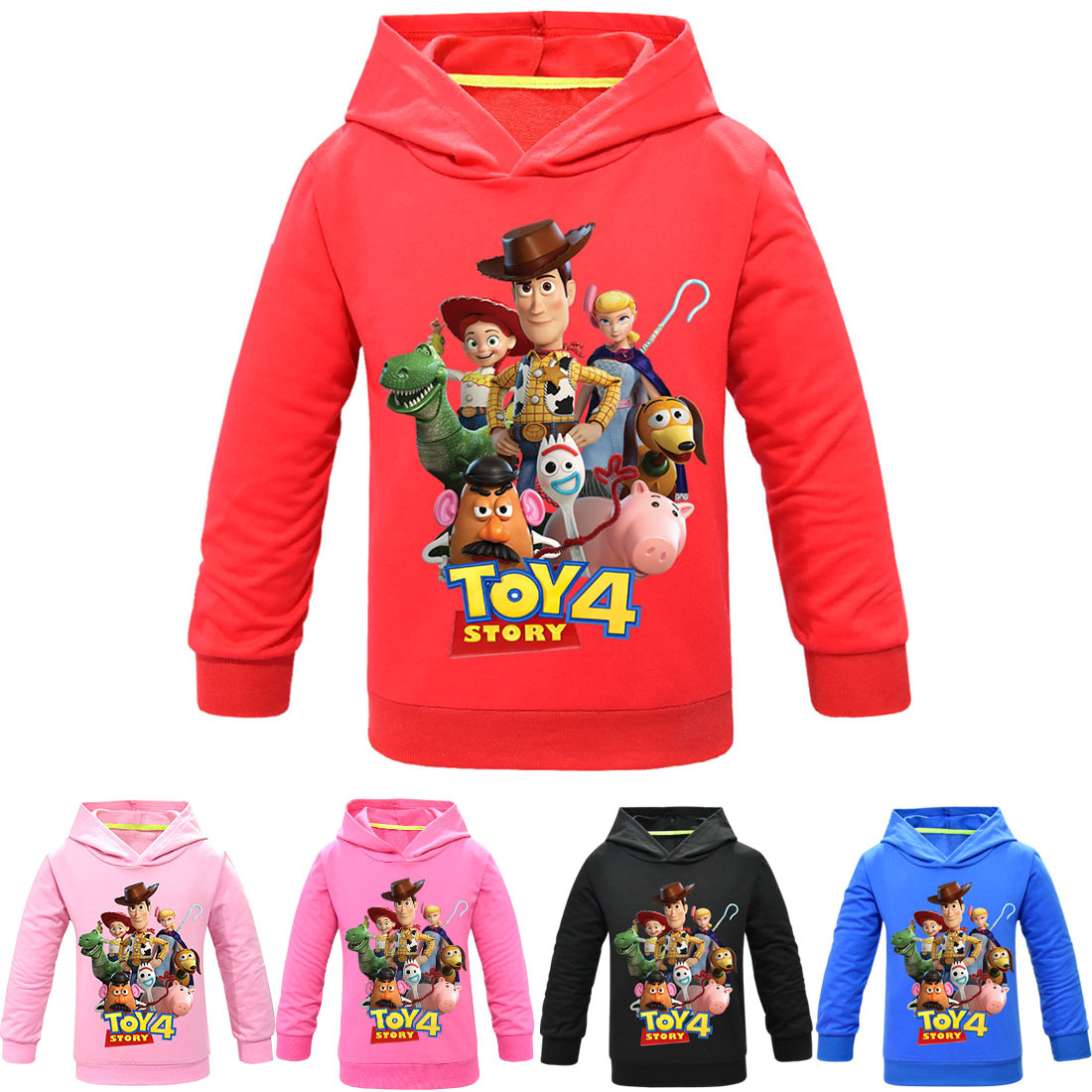 3-11T Kid Spring Autumn Hoodie Toy Story 4 Forky Woody Hoodies Sweatshirt Kids T-shirt Children Clothes Boys Girls Pullover Tops(China)
