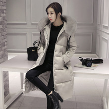 Woman Ukraine Winter Warm Windcheater Hooded Cheap Long Suit B Jacket Thick Faux Fur Collar Coat Palto Parka Korean Overcoats