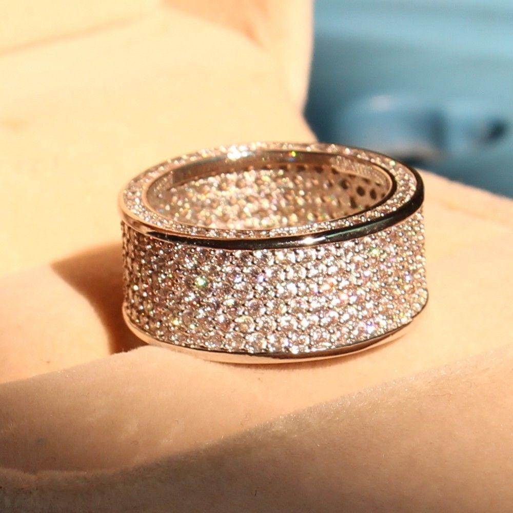 Promovare mare de lux 320pc 5A CZ 10kt aur alb umplut nunta Cercul - Bijuterii de moda - Fotografie 3