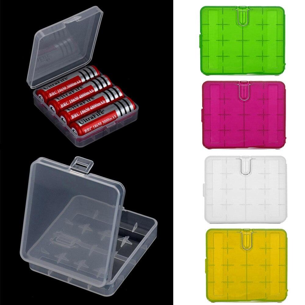 4X18650 Battery Holder Case Organizer Container 18650 Storage Box Holder Hard Case Cover Battery Holder