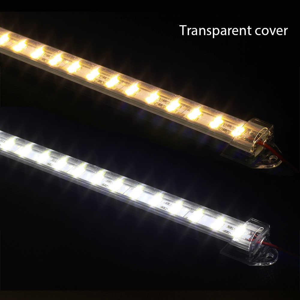 2 шт * 50 см DC12V супер яркий двойной ряд 5730 светодиодный свет бар жесткий линейный светильник 5730 с U алюминиевый корпус + pc крышка для тумбочки