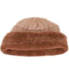 Winter new knitted men's hats plus velvet thickening outdoor warm and comfortable caps unisex leather label skullies beanie male